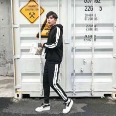 Set quần áo nam dài tay có mũ thời trang Xưởng May giá rẻ MEN QA 10002 (đen)