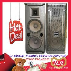 Loa karaoke nghe nhạc sân khấu 3 tấc đôi NOVIO PRO AUDIO sơn chống trầy từ 170 sườn gang