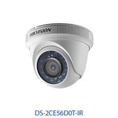 Camera HD-TVI bán cầu hồng ngoại 20m trong nhà 2MP (lõi thép) DS-2CE56D0T-IR
