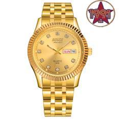 Đồng hồ nam dây thép không gỉ Bosck Japan Movt B3012 + Tặng kèm pin đồng hồ