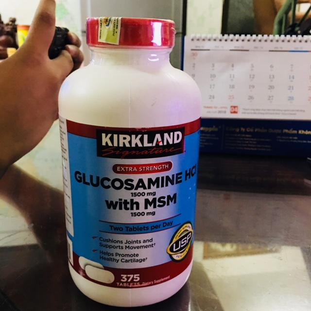 Viên Uống Bổ Khớp Kirkland Signature Glucosamin Hcl & Msm 1500mg Hộp 375 Viên