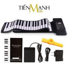 Đàn Piano Konix 88 phím cuộn mềm dẻo Flexible PD88 (Roll Up Piano – Pin sạc 1000mAh – Có Pedal – Midi Keyboard Controller – Tặng Kèn Kazoo)