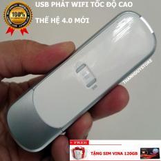 Bộ USB 3G 4G Phát WIFI Trên Xe Ô Tô Từ 4 đến 16 Ghế ngồi 21.6Mbps ZTE MF70 (Trắng) – Tặng Sim 4G Vina 120GB