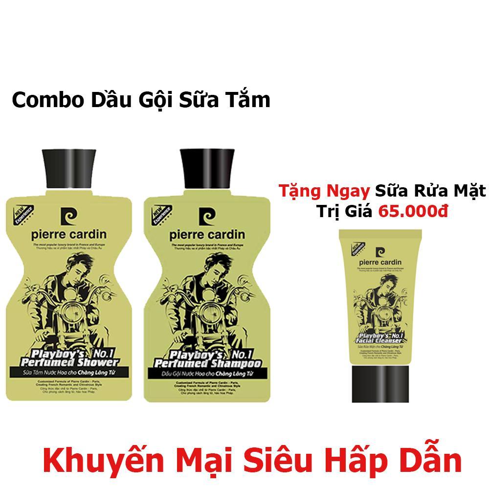 Combo Dầu Gội Sữa Tắm Play Boy Pierre Cardin 380G