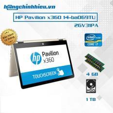 Laptop HP Pavilion x360 14-ba069TU (2GV31PA) i7-7500U, 4GB, 14″ Cảm ứng , Win 10- Hãng phân phối chính thức