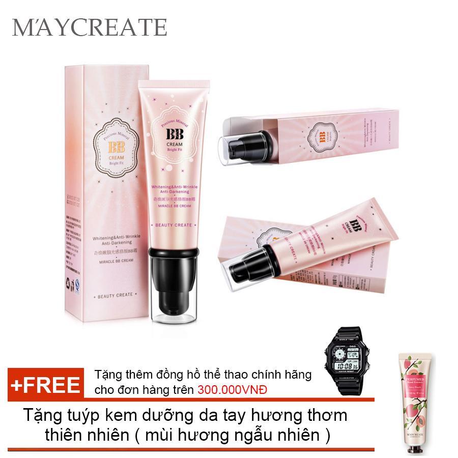 Kem Che Khuyết Điểm Maycreate Bb Cream ( Hồng ) + Tặng tuýp kem dưỡng da tay hương thơm thiên...
