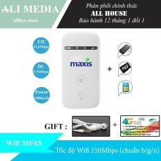 Thiết phát WIFI từ sim 3G/4G MF65 (Maxis) – Tặng kèm combo (tai nghe + siêu sim 4G)
