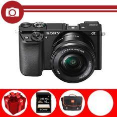 Máy ảnh Sony Alpha A6000 Kit 16-50mm F3.5-5.6 PZ OSS (Đen) (Hãng phân phối chính thức) – Thẻ nhớ Sony 16GB, túi đựng máy