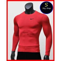 ⚡️[CHỈ 1 NGÀY] – Áo giữ nhiệt dài tay, áo tập gym,áo thu đông màu đỏ!_M
