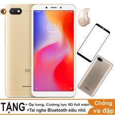 Xiaomi Redmi 6A, Redmi6A 16GB Ram 2GB Khang Nhung + Ốp lưng + Cường lực 5D full màn + Tai nghe Bluetooth siêu nhỏ