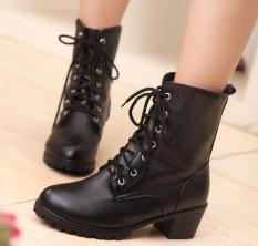 Giày da bốt nữ cao cổ sang trọng