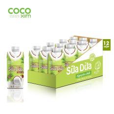 Thùng 12 hộp sữa dừa nguyên chất Cocoxim 330ml