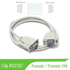 Dây cáp RS232 ( DB9) cáp com 9 chân female/female cable D-SUB 9 pin 9F/9F nối chéo – dài 3M
