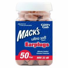 Hộp 50 đôi nút bịt tai chống ồn Mack's Ultra Soft Foam #9250