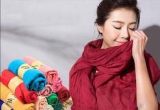 Khăn Đũi H&M Choàng Cổ Nữ Phong Cách Hàn Quốc.( màu ngẫu nhiên)