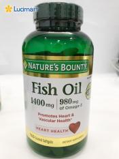Dầu cá thiên nhiên Nature's Bounty Fish Oil 1400mg, hộp 130 viên nang mềm.