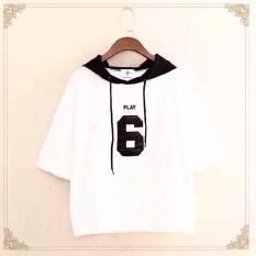 Áo hoodie nữ in hình số 6 ( Trắng )
