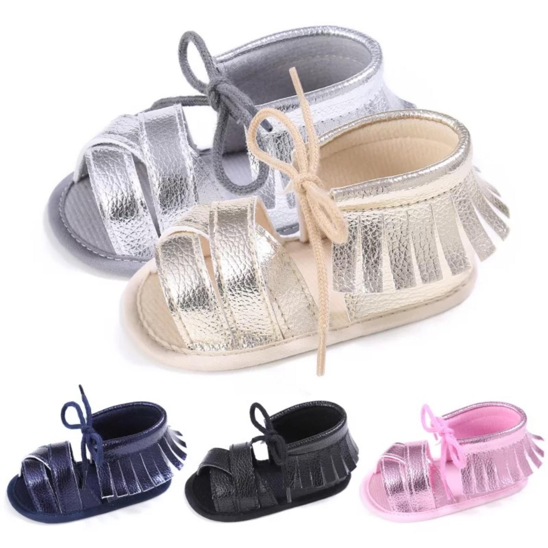 Sandal tập đi tua rua bé gái