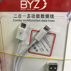 Cáp sạc BYZ 2 đầu Micro và lightning