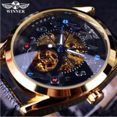 Đồng hồ cơ nam Winner H119M lộ máy (M Dây da đen)