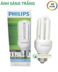 ( Bộ 4 ) Bóng đèn Compact Philips Genie 11W CDL E27 ( Ánh sáng trắng )