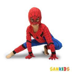 Bộ quần áo dài tay siêu nhân người nhện kèm mặt nạ và găng tay