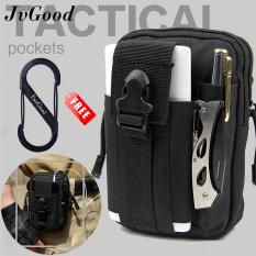 JvGood Tactical Molle Pouch EDC Utility Waist Belt Gadget Gear Bag Tool Organizer with Cell Phone Holster Holder (Black)