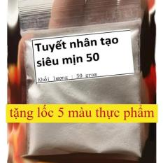 Tuyết nhân tạo 50 gram (tuyết siêu mịn làm cloud slime )