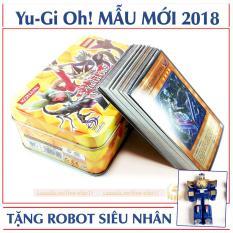 Bộ Thẻ Bài Magic YuGiOh Hộp Sắt 40 Lá + Tặng ROBOT Siêu Nhân (MAGIC.NHOM)