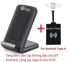 Đế sạc nhanh (FastCharge) không dây cho Samsung S6 S7 S8 iPhone8 iPhonex Qi itian A18-10W Đen