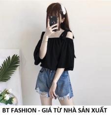 Áo Nữ Kiểu Trễ Vai, Voan Thời Trang Hàn Quốc Mới – BT Fashion (AK01- Nơ Vai)