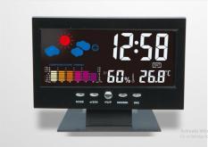 Đồng Hồ Để Bàn LED LCD Báo Thức Thời Tiết Cảm Biến Âm Thanh Cao Cấp DS-8082