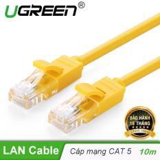 Cáp mạng đúc sẵn 2 đầu Cat 5 dài 10M Ugreen NW103 30642 – Hãng phân phối chính thức