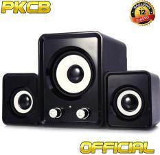 Loa vi tính PKCB 2N cho điện thoại, máy tính, laptop bass bộ 3 loa PF6