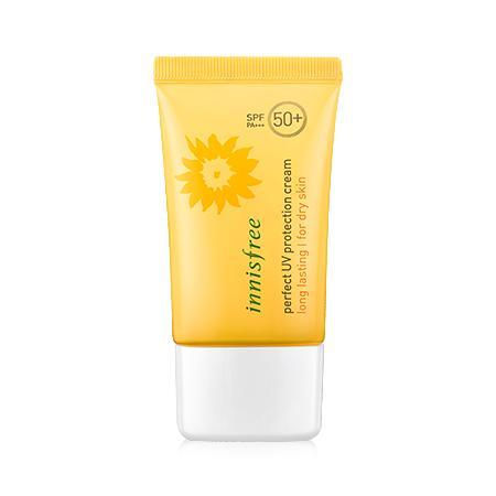 Kem chống nắng dành cho da khô hoặc da hỗn hợp Perfect uv protection cream long lasting SPF50+/PA+++ for dry skin 50ml