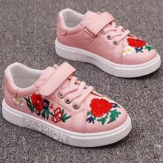 Giày thể thao cho bé gái thêu họa tiết hoa cát tường -TT112-01