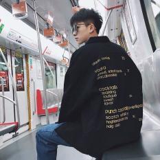 Áo khoác jean nam thời trang cao cấp phom rộng Shop Vanle OT (Đen)