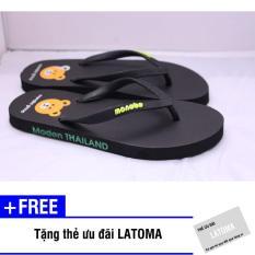 Bộ 2 đôi dép xỏ ngón nữ chất liệu xốp cao cấp Latoma TA1092 (Đen)+ Tặng kèm thẻ ưu đãi Latoma