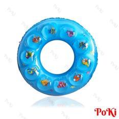 Phao bơi tròn 2 LỚP – size 80 cho bé (Từ 10-18 tuổi), chất liệu PVC cao cấp, an toàn khi sử dụng – POKI