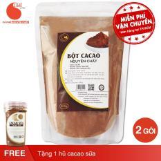 02 gói (1kg) bột ca cao nguyên chất 100% – Light Cacao + tặng 1 hũ cacao sữa 90g