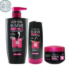 Bộ sản phẩm chăm sóc tóc chống rụng tóc 3 bước L'Oreal Paris Fall Resist