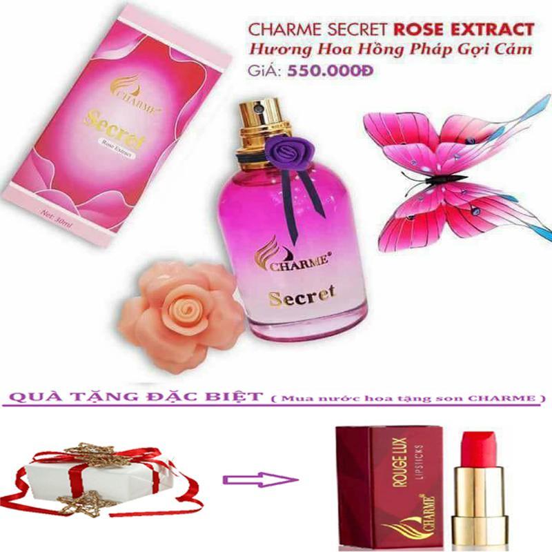 Nước hoa vùng kín Charme Secret Rose Extract + Tặng Kèm Son Charme