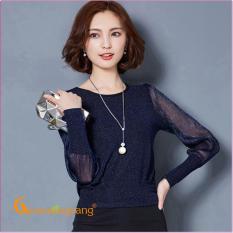 Áo nữ đẹp áo kiểu đính kim sa dài tay GLA106