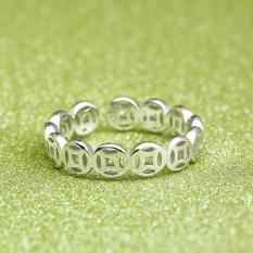 Nhẫn Kim Tiền Bạc 925 Phong Cách Châu Âu NNU COIN
