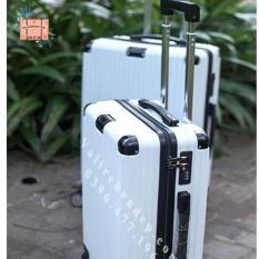 Vali kéo du lịch Size 20 Trắng siêu nhẹ chống xước