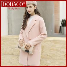 Áo khoác dạ nữ DODACO DDC1962 353RX màu Hồng