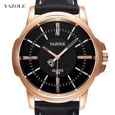 (Cập nhật 2019)Đồng hồ nam dây da thời trang cao cấp Yazole N03