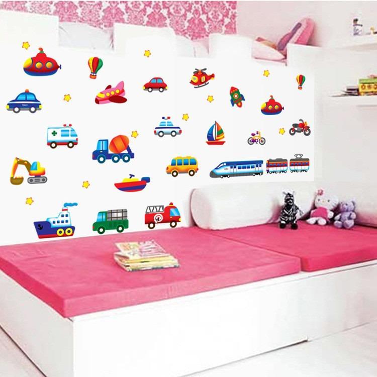 Cửa hàng bán Decal dán tường phương tiện giao thông cho bé AY7212