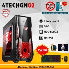 Máy tính chơi Game 4TechGM02 core i5, ram 8GB, hdd 500gb, vga GT730(chuyên LOL, FIFA, Stream) – Tặng phím chuột Gaming DareU.