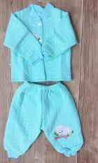 Bộ quần áo sơ sinh mùa thu đông giữ nhiệt, tránh gió (Size 2, 4-8 kg)
